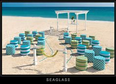 Seaglass Collection- easy to see it was inspired by the blue and green hues found only in natural sea glass.