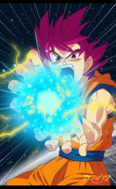 Goku ssj God Kame hame ha! Dragon Ball Super by FabianSM