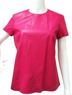 Ralph Lauren Lamb Leather Top Pink