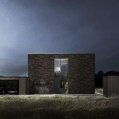 BAKS ARKITEKTER -  Brick House, Denmark. Nordic architecture, house, design, scandinavian, texture, brick, wood, minimalistic, danish, nature, living, garage, facade, entrance