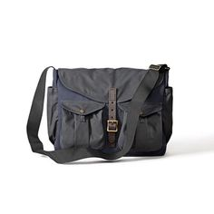 Filson Game Bag Messenger Navy/Orange