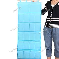 Foldable Wall Hanging Storage Holder Organizer with 22 Pockets Household Decor - Assorted Color HHI-64428