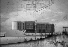 Exhibition Prints: Elevation Wharf 4 (2011) | Warren Haasnoot Studio on Tumblr http://haasnootstudio.blogspot.com/2011/11/exhibition-prints.html