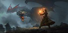 Dragon Cave, Greg Rutkowski on ArtStation at https://www.artstation.com/artwork/rn9vO