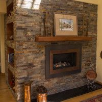 Valor H4 Gas Fireplace With Stone Surround, Soapstone Hearth And Mantel Part 78