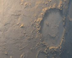 Happy Face Crater on Mars
