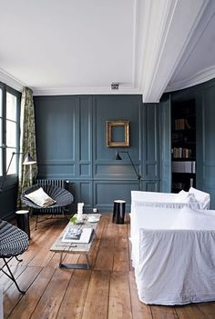 Dare the blue in your living room: 7 photos of blue salons - Decoration For Home Beautiful Interiors, Colorful Interiors, Interior Decorating, Interior Design, Decorating Ideas, Cozy Bedroom, Stylish Bedroom, Blue Bedroom, Blue Rooms