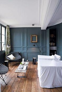 Osez le bleu dans votre salon : 7 photos de salons bleus - CôtéMaison.fr #blue #livingRoom