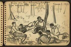 Durante a Segunda Guerra Mundial, um soldado americano de 21 anos chamado Victor A. Lundy decidiu registrar seu dia a dia, suas experiências e pensamentos por meio de desenhos.