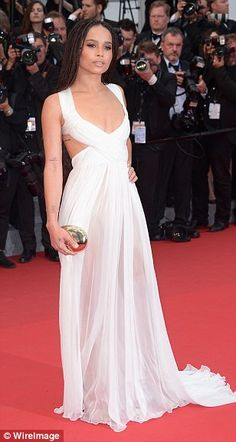 Ethereal: Mad Max: Fury Road star Zoe Kravitz looked pretty in a floaty white dress which ...