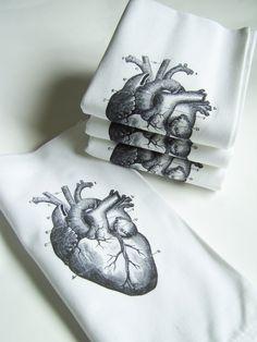 Love my anatomical heart napkins