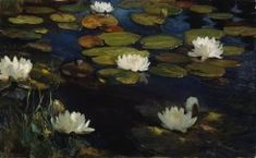 """Albert Edelfelt (Albert Gustaf Aristides Edelfelt) Le ninfee,studio per 'i giovani e una sirena' """"Water lilies,study for 'the youth and a mermaid'"""" - Ateneum art museum,Helsinki - Lily Painting, Helene Schjerfbeck, National Gallery, Lily Pond, Inspirational Artwork, Art Database, Old Master, Art Studies, Home Art"""