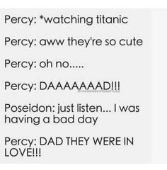 Omg Percy!! So right!