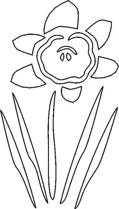 Free Stencils Collection: Flower Stencils: Free Flower Stencil: Daffodil
