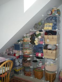 Yarn organization -- I'm not quite there yet, though I do have a good amount of yarn!