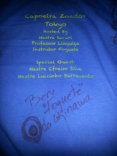 My batizado signature! Foguete do Okinawa Japao