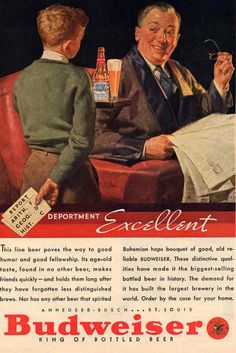 Old Budweiser Advertisment