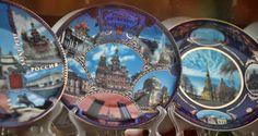 Souvenir plates Royalty Free Stock Photos
