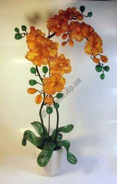 1255-орхидея из бисера