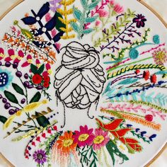 The product of my bleeding fingers. . . . #stitchleigh #handmade #handcrafted #springtime #flowers #hair #livingcolor #etsy #etsyseller #makersgonnamake #embroidery #handembroidery #handstitched #art #artistsoninstagram #creativelifehappylife #create #broderie #bordado #fiberart #textiles #textileart #textile #fiber #homedecor #walldecor