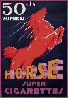 Super Cigarettes Horse, 1933