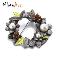 Aliexpress.com : Buy MloveAcc Wholesale Vintage Flower Brooches With Stone Imitation Pearl Pins Brooch Pendant for Women Dress Accessories from Reliable vintage #flower_brooch suppliers on Mloveacc Official Store