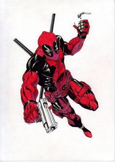 Deadpool (Watercolor) (Acuarela) José Martín