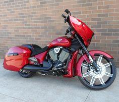 RED HOT CUSTOM VICTORY CROSS COUNTRY MOTORCYCLE!  http://www.bairsinc.com/new_vehicle_detail.asp?sid=02230341X8K18K2013J12I52I44JPMQ2110R0=315220=3202183