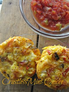 Crustless Mini Quiche - great Easter Brunch Idea!yummy..swapped out the meat for smoked trout and it was delicious!