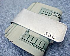 Personalized Money Clip  Custom Money Clip  by 3LittlePixiesShoppe, $29.00