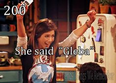 Emma's first word is...  Gleba!