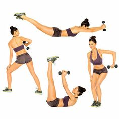 workout for abs and back using light weights