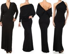 $40; becca CONVERTIBLE MULTI WAY MAXI DRESS Halter Plunging Neckline Reversible Gown Party #Butterfly #MaxiConvertibleReversibleMultiWay #Cocktail