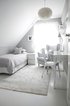Would be a perfect tiny bedroom or guest room in the Attic of a tiny house Dorm Room Decor Ideas Attic Bedroom Guest house Perfect room Tiny Ikea Bedroom, Small Room Bedroom, Room Decor Bedroom, Dorm Room, Attic Bedroom Designs, Dream Rooms, My New Room, Room Inspiration, Guest Room
