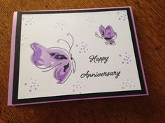 Love the Altenew butterfly stamp and dots by Judith..Used Misti to make several cards at once.