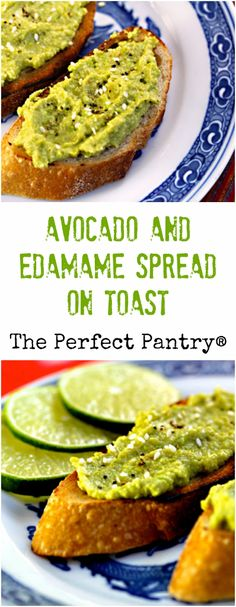 Avocado and edamame (soy beans) makes a fabulous combination, and an ...