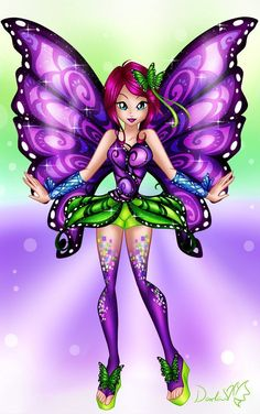 Winx Club - Butterfly Fairy Tecna by DarleenEnchanted on DeviantArt Bloom Winx Club, Unicorn Pictures, Fairy Pictures, Barbie Tattoo, Les Lolirock, Winx Magic, Les Winx, Cute Fairy, Butterfly Fairy