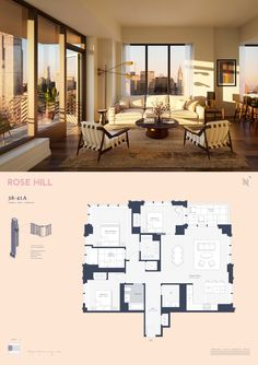 New House Plans, Modern House Plans, House Floor Plans, New York Penthouse, New York City Apartment, Interior Design Layout, Architectural Floor Plans, Apartment Floor Plans, House Layouts