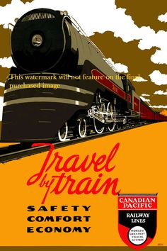 Art Print - Canadian Pacific Railways, Travel Poster Print 8 x 10