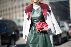18 ways to use the turtleneck as a transitional dressing piece, as seen on fashion month's street style stars themselves.
