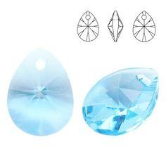 6128 Mini Pear 10mm Aquamarine  Dimensions: 10,0 mm Colour: Aquamarine 1 package = 1 piece