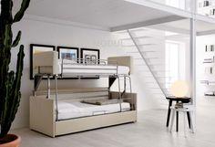 Двухэтажная диван-кровать Rigo Salotti CASTELLO - это эксклюзивный предмет интерьера из Италии, который существенно сэкономит место! Диван с легкостью превращается в два спальных места и при этом не нарушает общую атмосферу уюта и комфорта. Порадуйте себя новинкой от Rigo Salotti, купить которую можно в Москве в Салоне мебели и света MODUL.