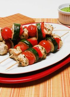 Cypriot Chicken Kebabs: The blend of extra virgin olive oil, apple cider vinegar, mustard, oregano, garlic, and parsley produces the perfect marinade.