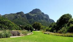 View of Table Mountain from Kirstenbosch Botanical Gardens, Cape Town, South Africa Kew Gardens, Places Around The World, Around The Worlds, Garden Falls, National Botanical Gardens, Top 10 Hotels, Garden Site, Gardens Of The World, Public Golf Courses