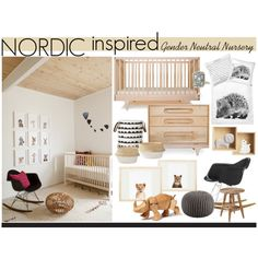 Nordic Inspired Gender Neutral Nursery, created by reddotdaily on Polyvore