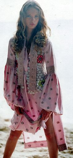 pink boho, hippie