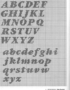 abecedarios a punto de cruz (pág. 12) | Aprender manualidades es facilisimo.com