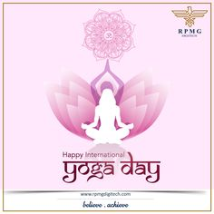 """""""Nourish Your Mind  Rejuvenate Your Body Blossom The Divinity Within You"""" Start Doing Yoga To Enlighten Your Soul & To Heal Yourself. Happy Yoga Day   #InternationalYogaDay #YogaDay2019 #RPMGDigitech"""