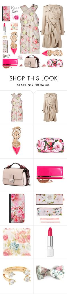 """""""A breath of Spring..."""" by sue-mes ❤ liked on Polyvore featuring Carven, Boutique Moschino, Valentino, Dolce&Gabbana, Fendi, Jimmy Choo, Casetify, Wild & Wolf, Dondup and RMK"""