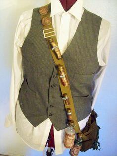 Alchemist's Bandoleer and messenger bag, steampunk costume